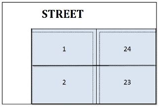 Easement Street Plat Map