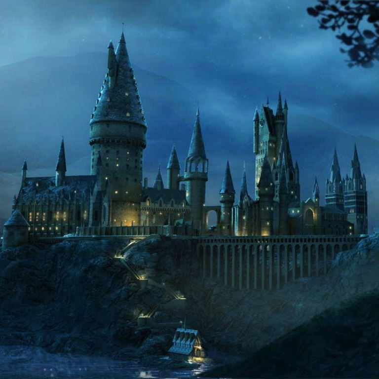 hogwarts castle at night Opens in new window